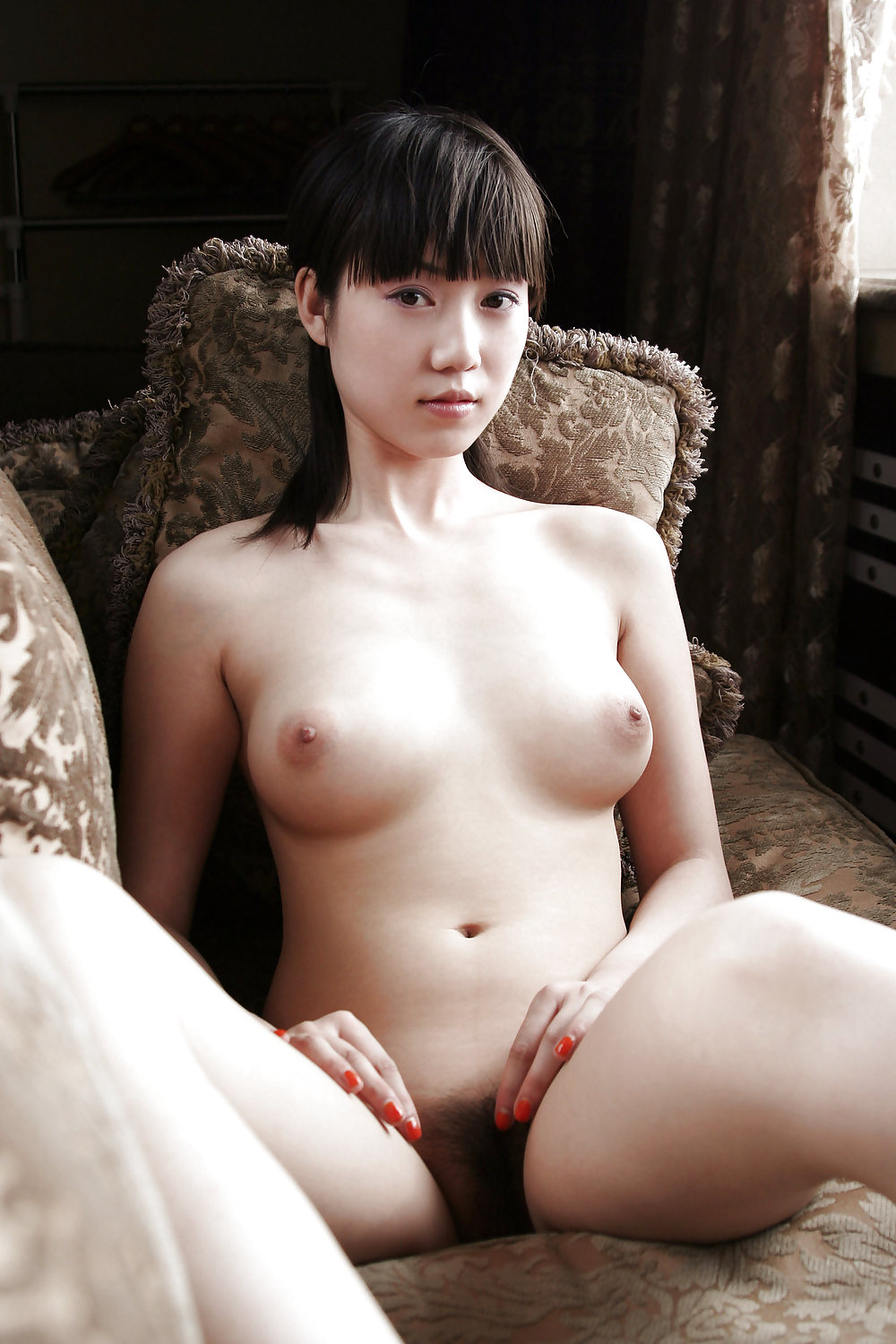Beauty chinese hairy young pussy from shangai